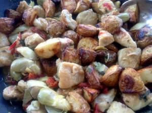 chicken artichoke potatos